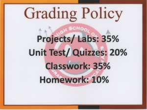 Grading Policy HSGCA