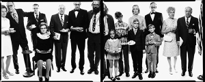 Allen Ginsberg's family: Hannah (Honey) Litzby, aunt: Leo Litzby, uncle; Abe Ginsberg, uncle; Ann Ginsberg, aunt; Louis Ginsber, father; Eugeno Brooks, brother; Allen Ginsberg, poet; Anne Brooks, niece; Peter Brooks, nephew; Connie Brooks, sister-in-law; Lyle Brooks, nephew; Neal Brooks, nephew; Eugene Brooks; [sic?] Edith Ginsberg, step-mother; Louis Ginsberg Paterson, New Jersey, May 3, 1970