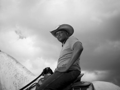 Todd Morris is the communications manager for the SE Rodeo Association, promoters of the rodeo in Birmingham, Alabama on June 27, 2015.