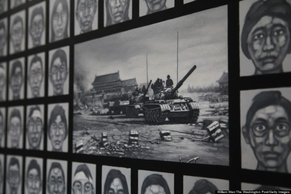 {}, {} - {} {}: CAPTION INFO: In 2006, Liu Yi began painting in secret, faces meant to represent those killed in the 1989 crackdown. For years, Liu Yi said he showed his painting to no one except his wife and a handful of close friends, not wanting to alienate dealers for his commercial Buddhist work or attract trouble from authorities. I cant explain why but I felt a need to do something for the people who died, he said in an interview at his home in a rural Eastern suburb of Beijing. I think for many, the trauma is still somewhere inside. Once I finished the series, I felt a kind of peace. (Photo by {William Wan}/The Washington Post via Getty Images)